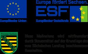 Logo ESF – Europa förder Sachsen